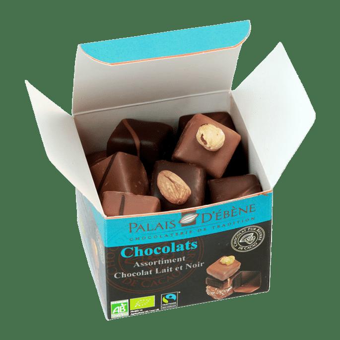 Cube Assortiment chocolats (boite ouverte)